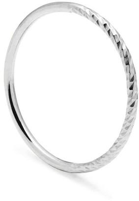 Myia Bonner Sterling Silver Diamond Paradox Skinny Stacking Ring