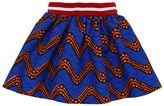 Stella Jean Waves Printed Wax Cotton Skirt