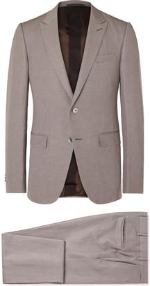 Ermenegildo Zegna Slim-Fit Trofeo Wool And Linen-Blend Suit