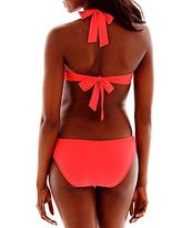 JCPenney Bisou Bisou Ring-Front Pushup Bra Swim Top