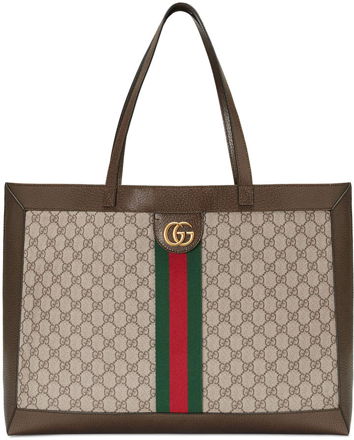 eff97795830801 Gucci Fabric Tote - ShopStyle