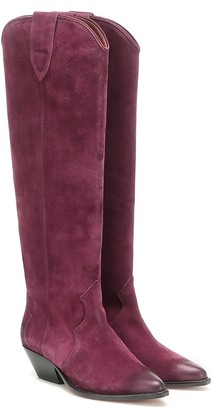 Isabel Marant Denvee suede knee-high boots