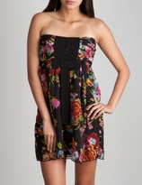 Silk Chiffon Floral Tube Dress