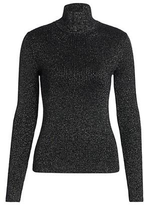 RE/DONE 60s Slim Metallic Wool-Blend Knit Turtleneck
