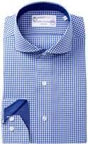 Lorenzo Uomo Dotted Check Trim Fit Dress Shirt