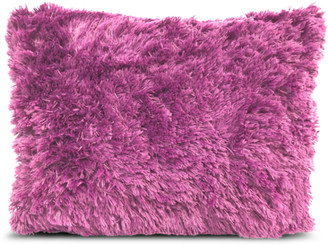 Heritage Club Purple Long Faux Fur Throw Pillow