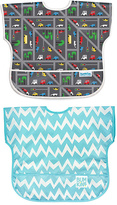 Bumkins Traffic & Blue Chevron Junior Bib Set