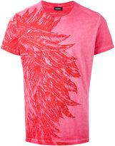 Diesel feathers print T-shirt - men - Cotton - XS