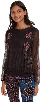 Desigual Andora Veil Lined T-Shirt with Elasticated Bottom