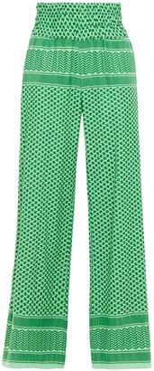 Cecilie Copenhagen Cotton-jacquard Wide-leg Pants