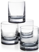 Hotel Collection Double Old Fashioned Glasses with Gray Accent, Set of 4, Created for Macy's