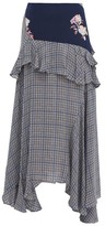Preen Line Jolissa Checked Ruffle-trim Crepe Midi Skirt - Womens - Multi