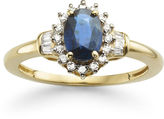 JCPenney FINE JEWELRY Genuine Sapphire & 1/4 CT. T.W. Diamond 10K Gold Ring