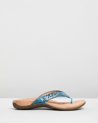 Vionic Women's Blue All thongs - Lucia Toe Post Sandals - Size One Size, 5 at The Iconic