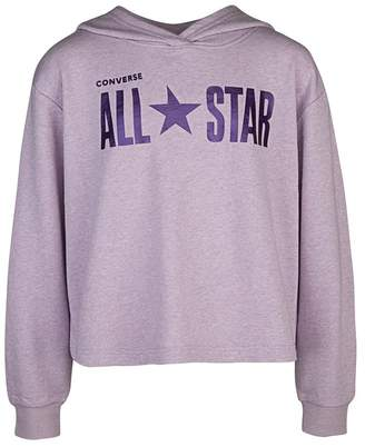 Converse Sparkle French Terry Boxy Pullover Hoodie (Little Girls)