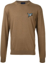 Lanvin embroidered bird jumper - men - Cotton/Wool - XS