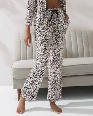 Soma Intimates Cool Nights Satin Trim Pajama Pants