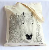 Bird Through The Hedge 'Horse' Tote Bag