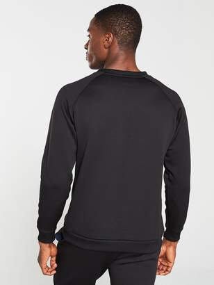 Tommy Hilfiger Fleece Logo Crew Neck Sweat - Black