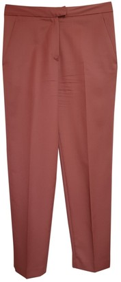 The Frankie Shop Pink Wool Trousers