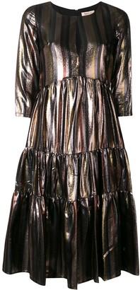 Black Coral stripe dress