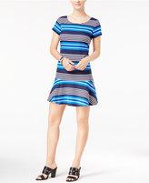 Tommy Hilfiger Striped Drop-Waist T-Shirt Dress