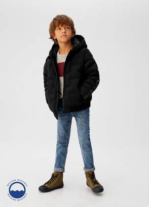 MANGO Hood quilted coat black - 5 - Kids