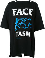 Facetasm printed boyfriend T-shirt - women - Cotton/Nylon/Rayon - One Size