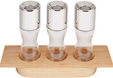 Georg Jensen Stainless Steel Herb Grinders with Oak Wood Stand