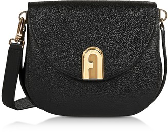 Furla Genuine Leather Sleek Mini Crossbody Bag
