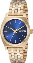 Nixon Women's 'Medium Time Teller' Quartz Metal and Stainless Steel Automatic Watch, Color:Gold-Toned (Model: A11301931-00)