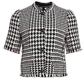Akris Punto Women's Glen Check Short Puff-Sleeve Jacket