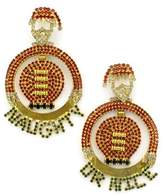 Elizabeth Cole Women's Jolly Santa Crystal Drop Earrings