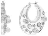 Steve Madden Women's Jewel Hoop Earrings
