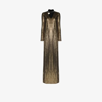 Gucci Patent Choker Chainmail Gown