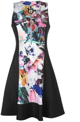 DKNY Occasion Floral Zip Dress