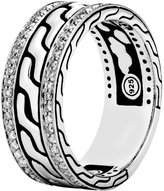 John Hardy Men's Classic Chain 9MM Band Ring in Sterling Silver with Gem Diamonds