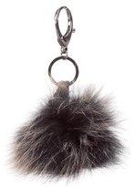 Rebecca Minkoff Fox Fur Pom-Pom Keychain