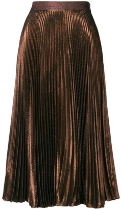 Christopher Kane Pleated Lame Skirt