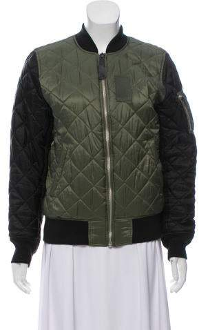 25531e08c Quilted Bomber Jacket