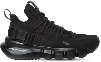 Neil Barrett Li-Ning Tech Knit Low Top Sneakers