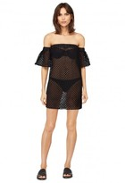 Milly Cabana Netting Flutter Sleeve Cover-Up
