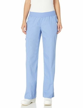 Cherokee Women's Flexibles Tonal Mid-Rise Knit Waist Pull-On Pant