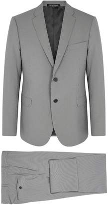 Emporio Armani Grey Micro-checked Suit
