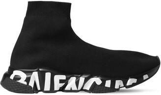 Balenciaga Speed Graffiti Knit Sock Runner Sneakers