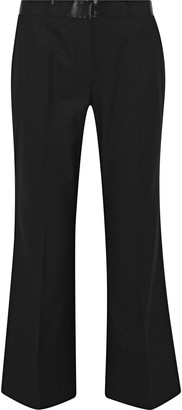 Elizabeth and James Mira Satin-trimmed Twill Straight-leg Pants
