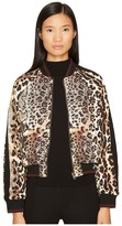 Just Cavalli Mixed Animal Print Bomber Jacket Women's Coat