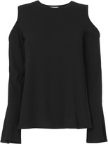 A.L.C. Camden Cold Shoulder Bell Sleeve Tee