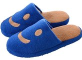 BuyHere Man's Smiley Cotton Slippers,Dark ,US Size in 9-9.5