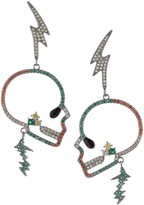 Eye Candy La The Luxe Skull Lightning Crystal Drop Earrings
